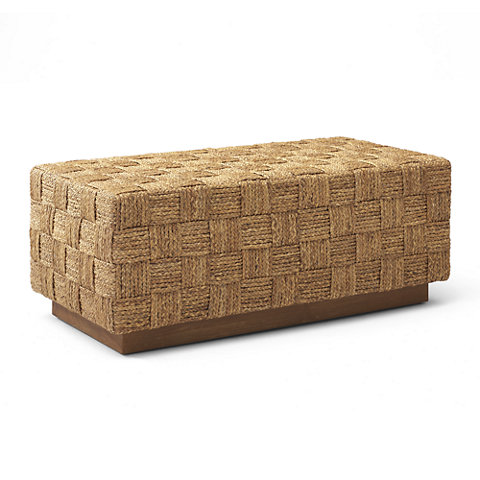 MODERN HOLLYWOOD WOVEN BED BENCH