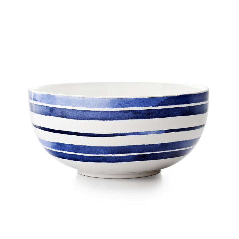 COTE D'AZUR STRIPE SERVING BOWL