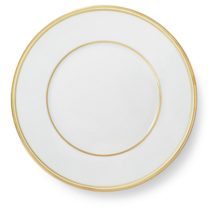 WILSHIRE SALAD PLATE - GOLD