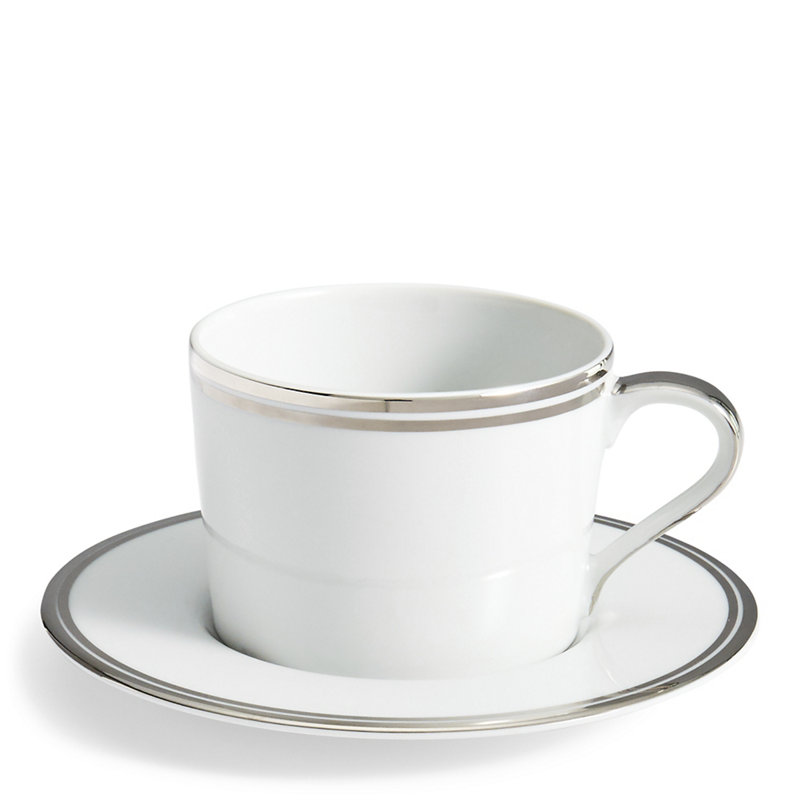 WILSHIRE TEA CUP & SAUCER - SILVER