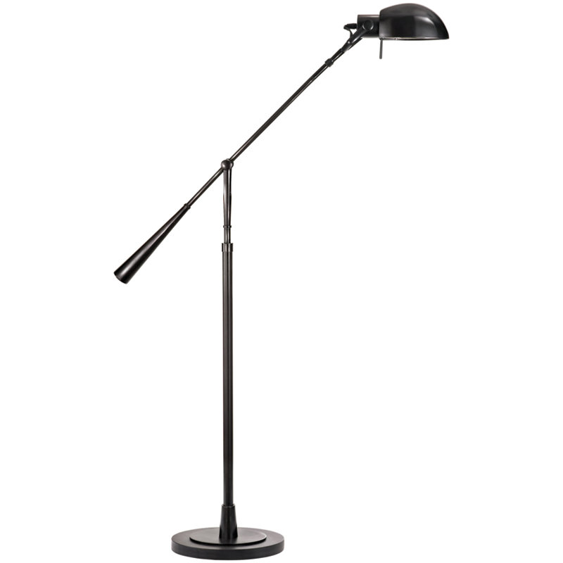 EQUILIBRIUM FLOOR LAMP IN BLACK NICKEL