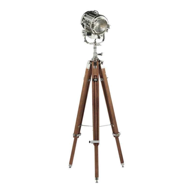 MONTAUK SEARCH LIGHT FLOOR LAMP IN POLISHED NICKEL