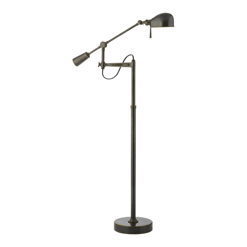 RL '67 BOOM ARM FLOOR LAMP IN BRONZE