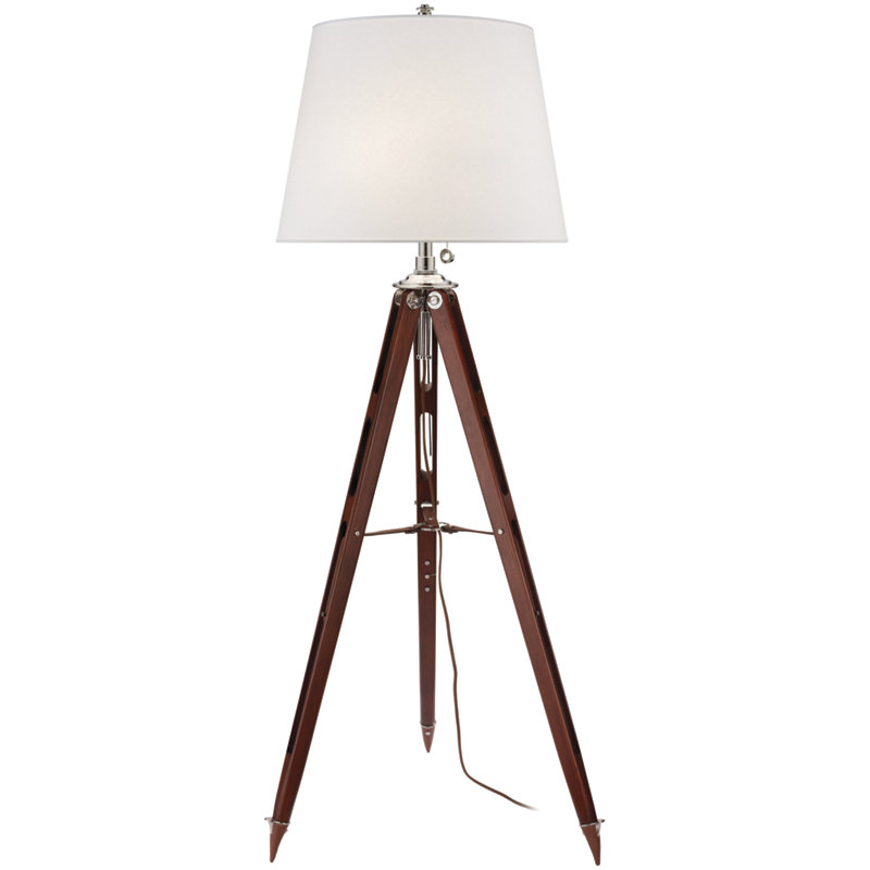 HOLDEN SURVEYOR'S FLOOR LAMP IN MAHOGANY