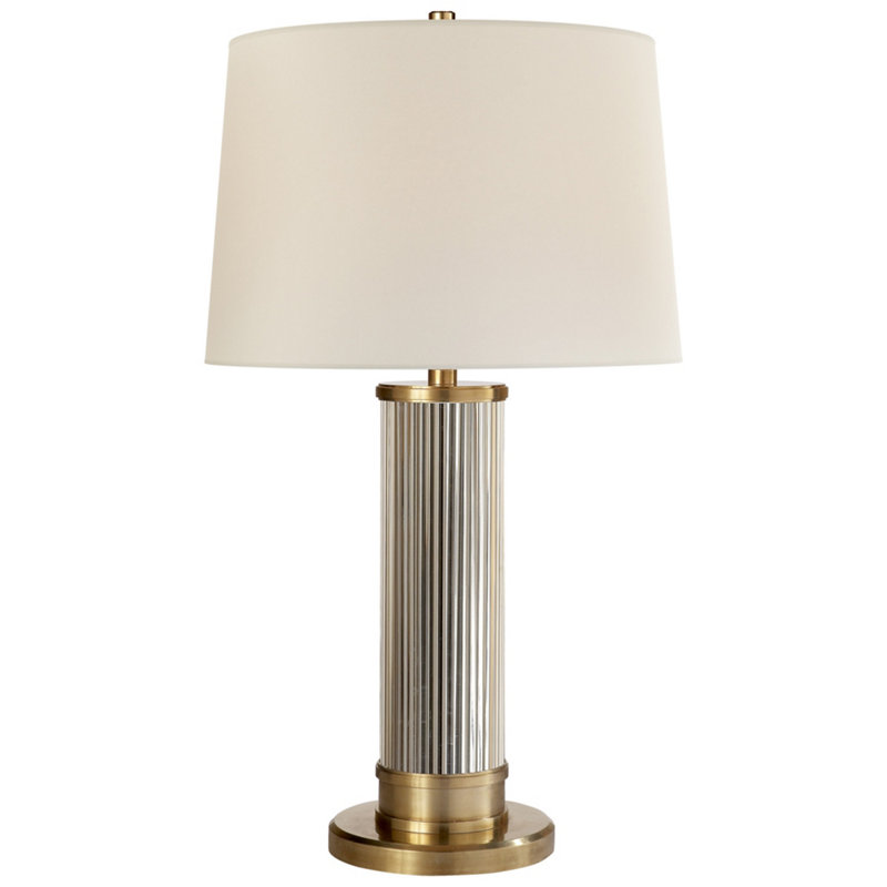 ALLEN TABLE LAMP IN NATURAL BRASS