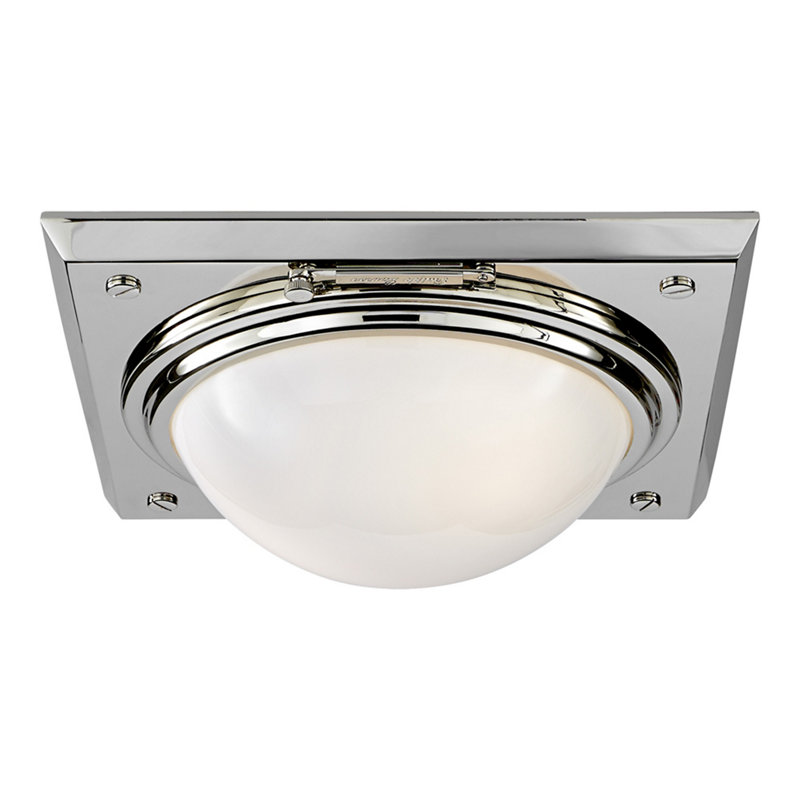 WAINSCOTT LARGE FLUSH MOUNT - POLISHED NICKEL