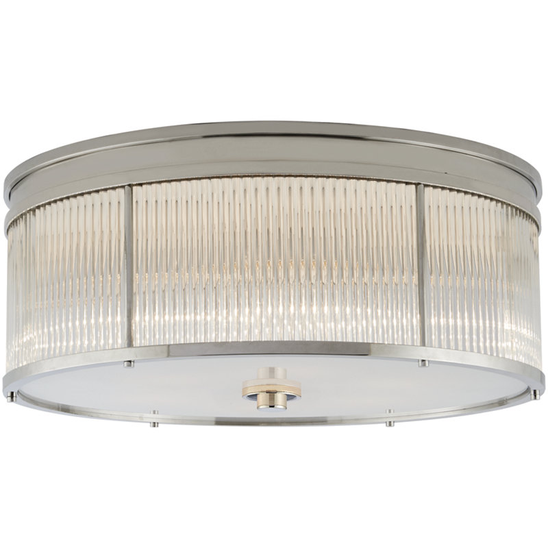 ALLEN LARGE FLUSH MOUNT IN POLISHED NICKEL