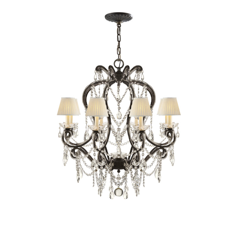 ADRIANNA SMALL CHANDELIER IN ANTIQUE GILD