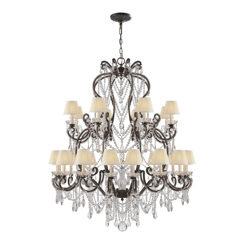 ADRIANNA LARGE CHANDELIER IN ANTIQUE GILD