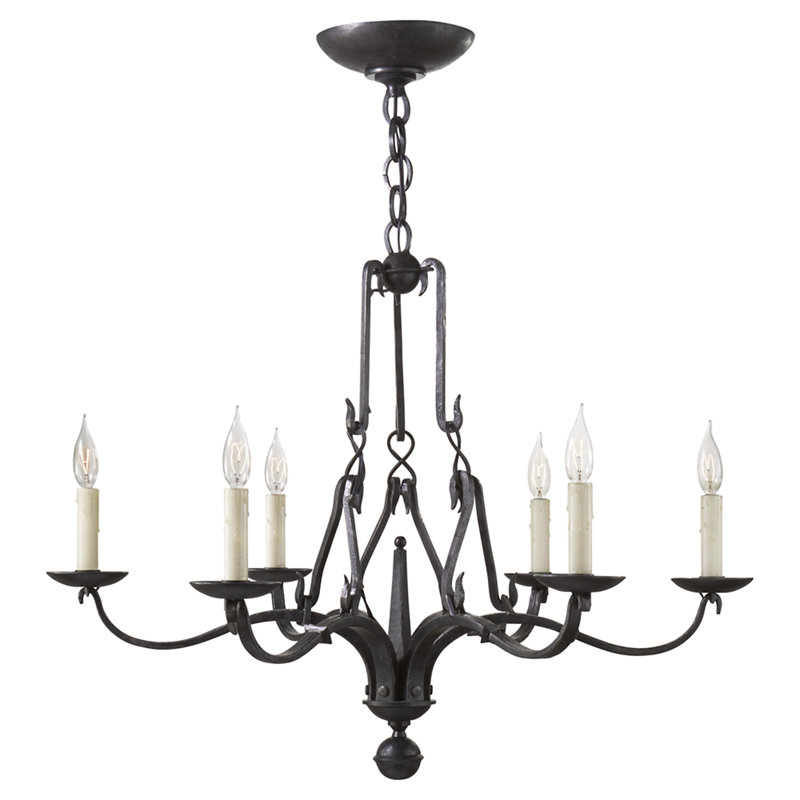 ALLEGRA SMALL CHANDELIER IN AGED IRON